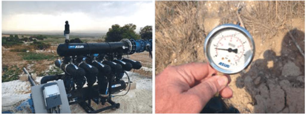 Equipo de filtrado y manómetro